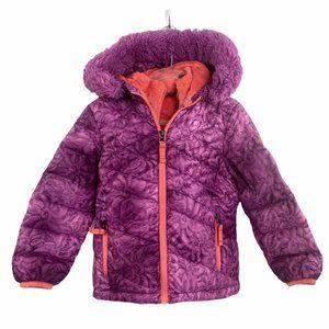 Snoozu Hooded Puffer Purple Girls Jacket Outerwear